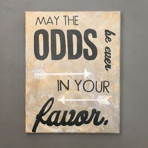 Accessories - The Hunger Games Wall Art/Painted Canvas